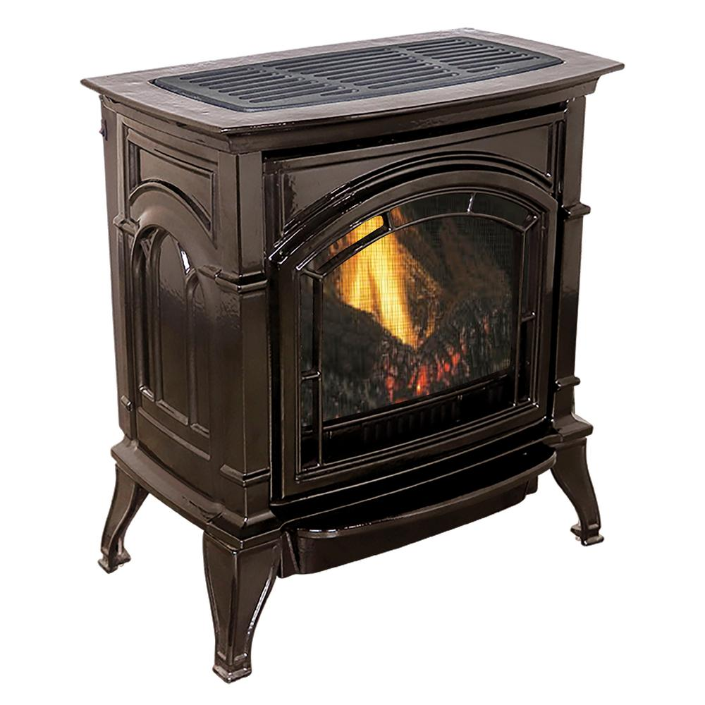How Does A Vent Free Gas Fireplace Work Ashley Hearth Products 31 000 Btu Vent Free Mahogany Enameled Porcelain Cast Iron Lp Propane Gas Stove