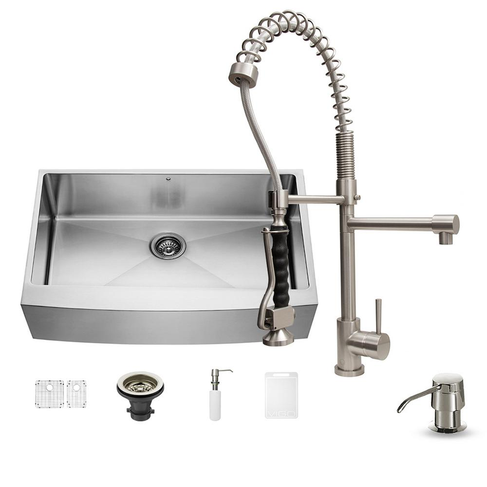 Vigo All In One Undermount Stainless Steel 36 In Single