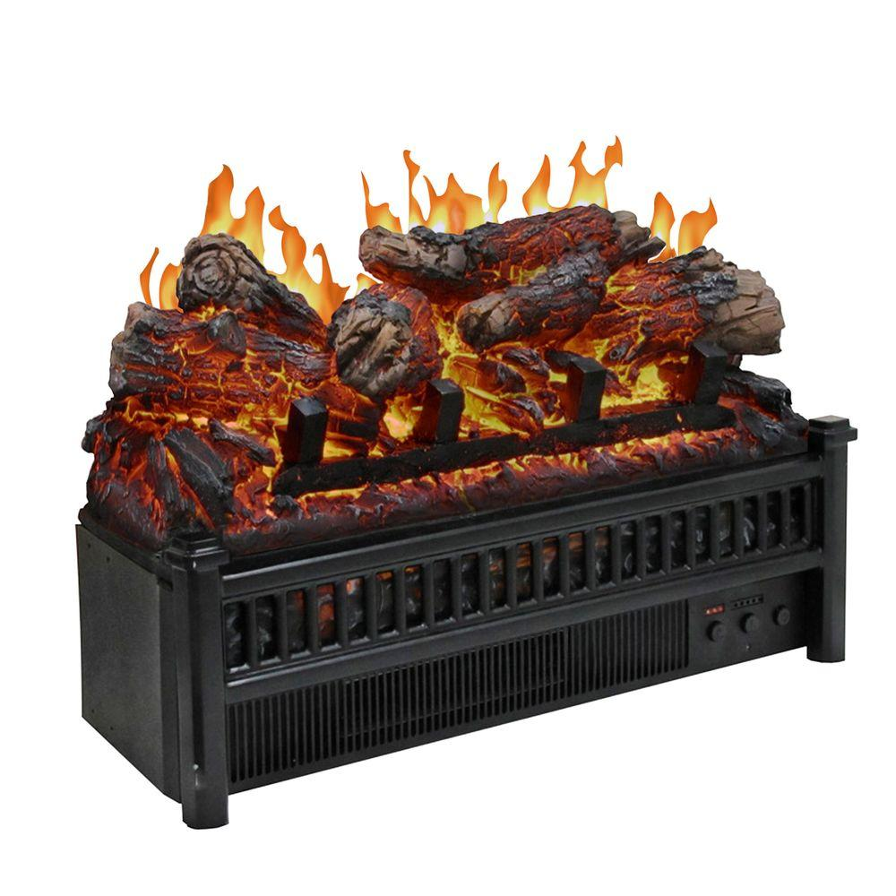 Gas Fireplace Embers Menards 23 In Electric Log Set With Heater