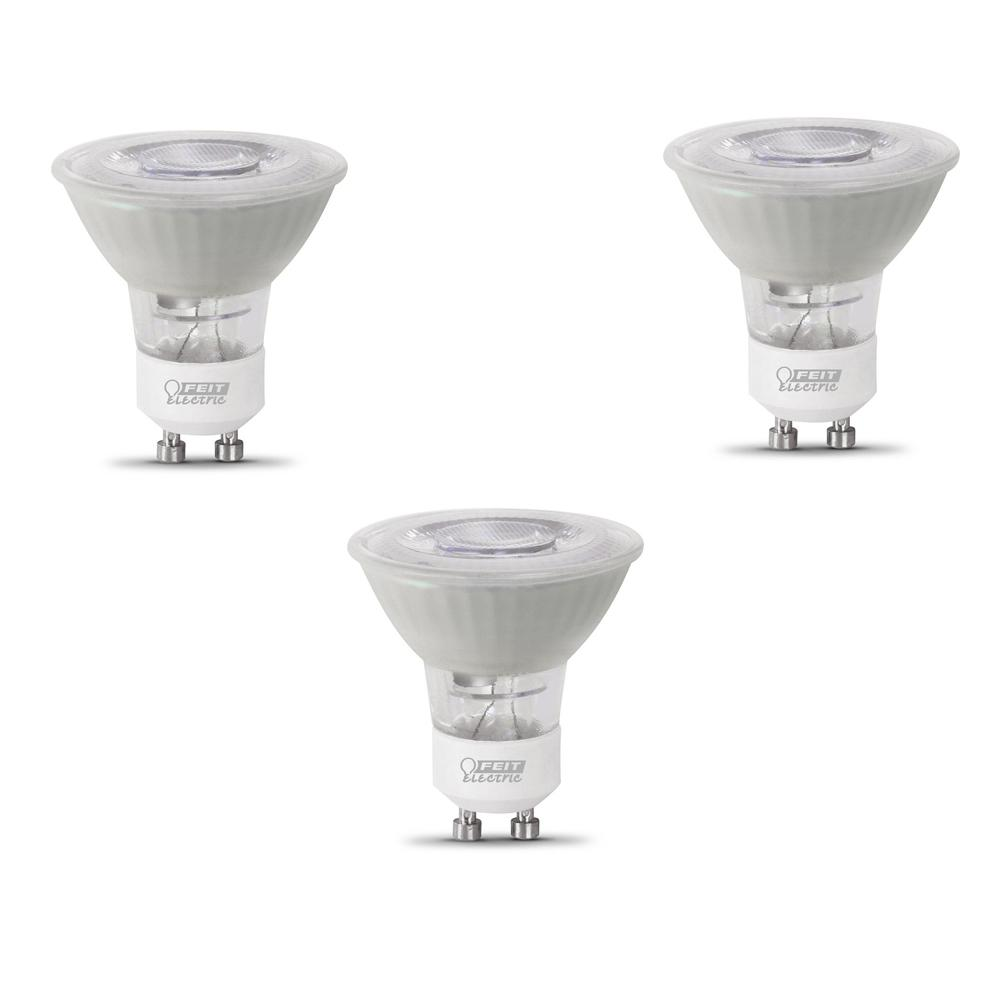 Ledlamp Gu10 Feit Electric 50 Watt Equivalent Mr16 Gu10 Dimmable Cec Title 20 Compliant Led 90 Cri Frosted Flood Light Bulb Daylight 3 Pack