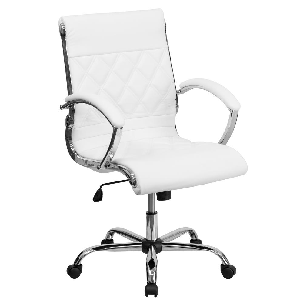 Stunning Flash Furniture Designer Lear Executive Swivel Officechair Adjustable Arms Office Chair No Arms Chrome Base Flash Furniture Designer Lear Executive Swivel Office Chair houzz-02 White Office Chair