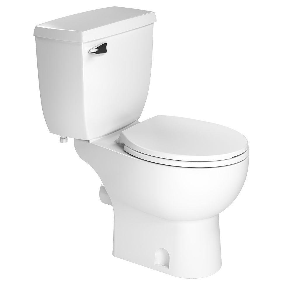 Toilet Accessories Saniflo 2 Piece 1 28 Gpf Single Flush Round Toilet In White