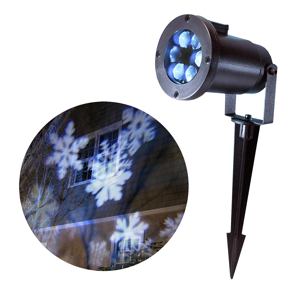 Light Projector Lumabase 1 Light Led White Snowflakes Projector Light
