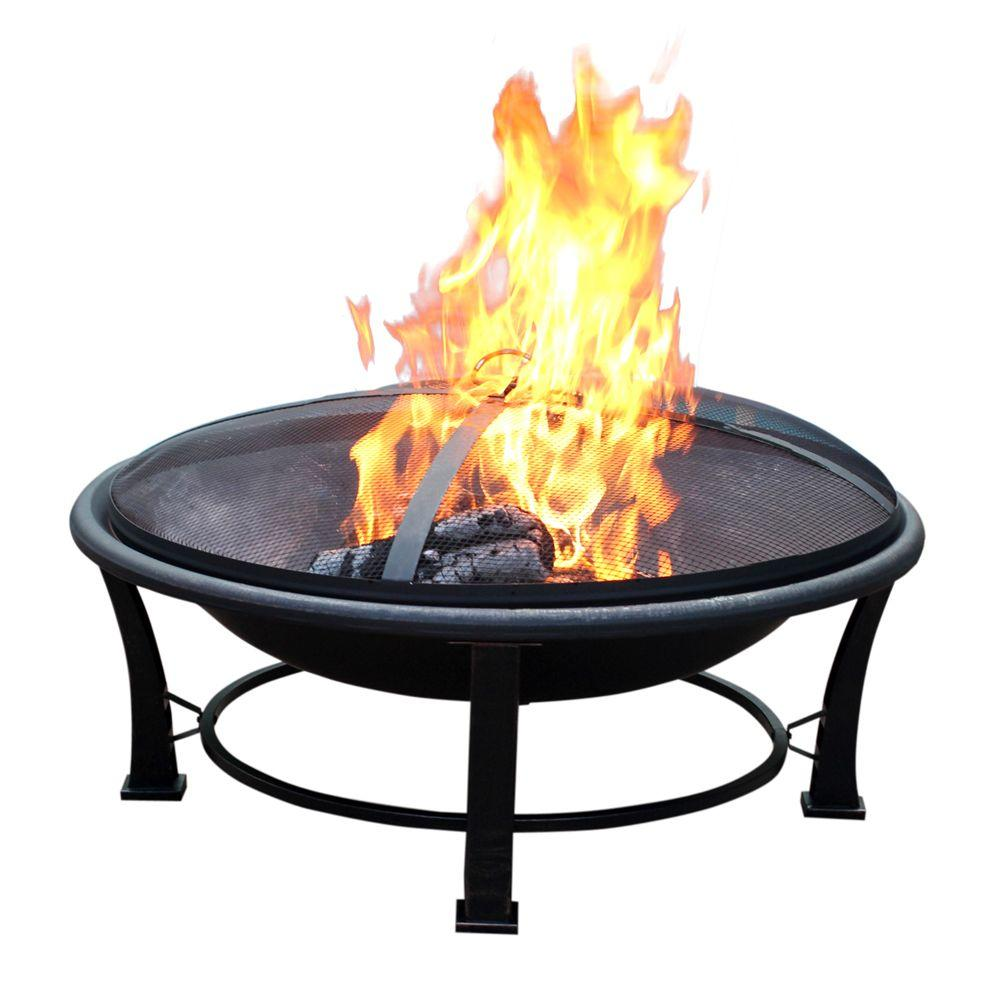 Home Depot Fire Pit Jeco 35 In Golden Brush Steel Fire Pit