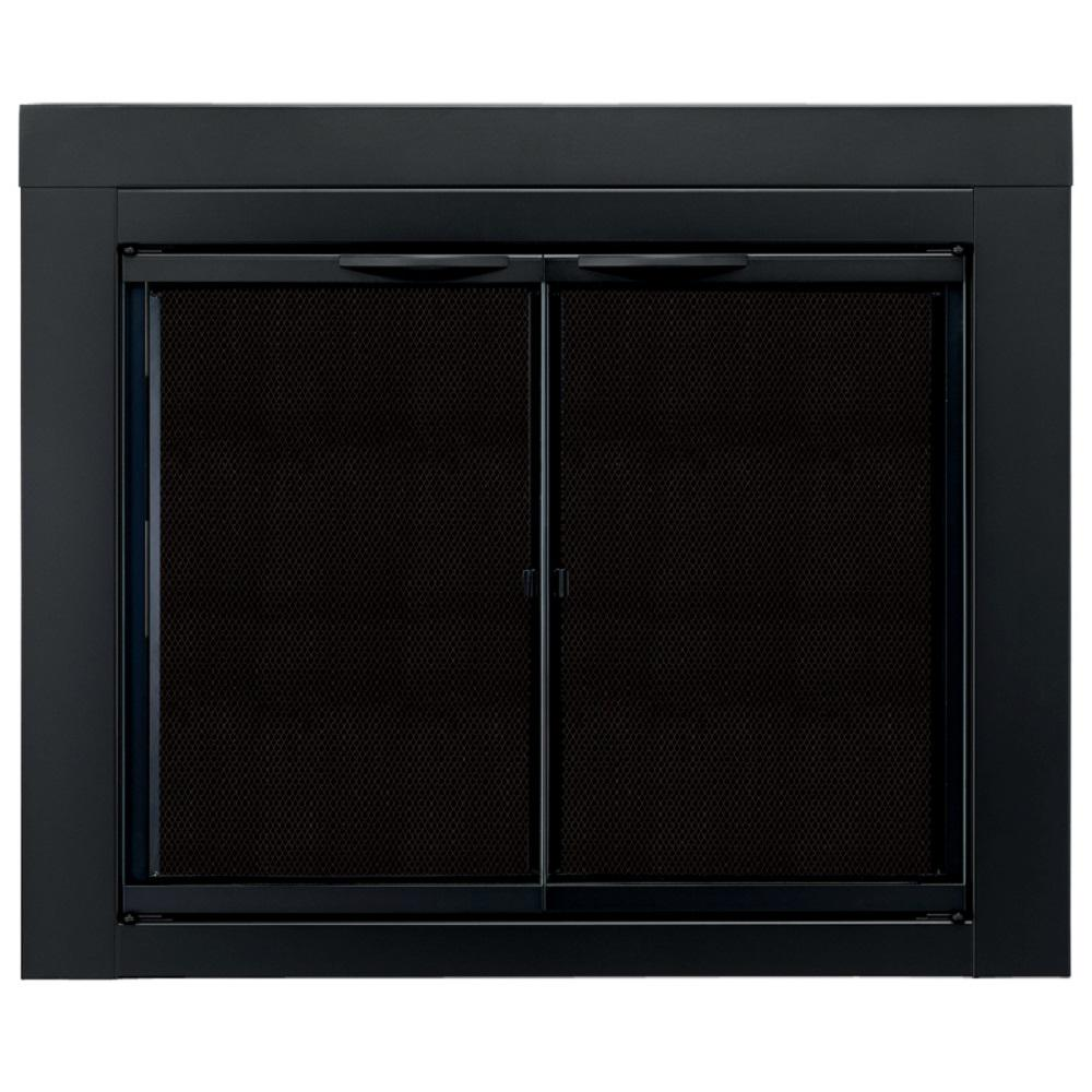 Pleasant Hearth Alpine Small Glass Fireplace Doors