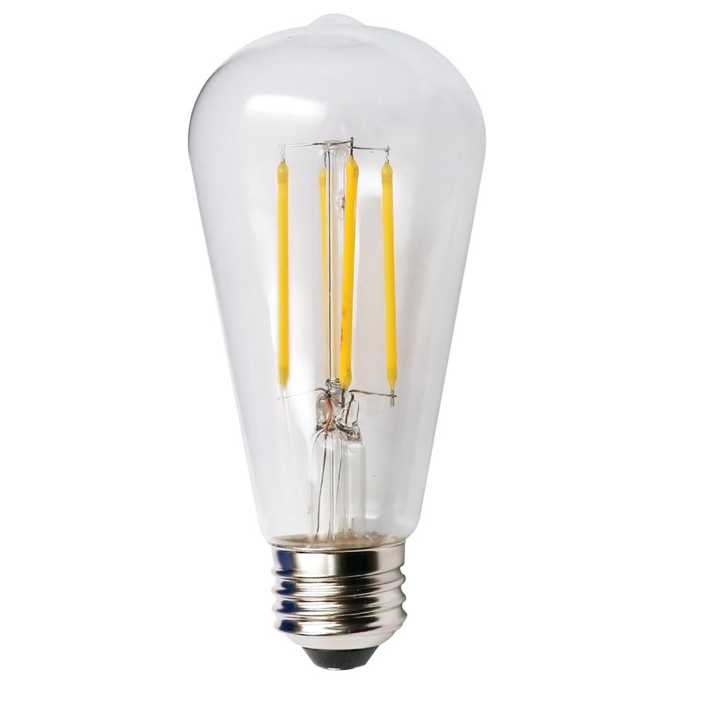 5 Watt Led Halco Lighting Technologies 60 Watt Equivalent 5 Watt St19 Dimmable Led Clear Filament Antique Vintage Style Light Bulb 2700k 85043