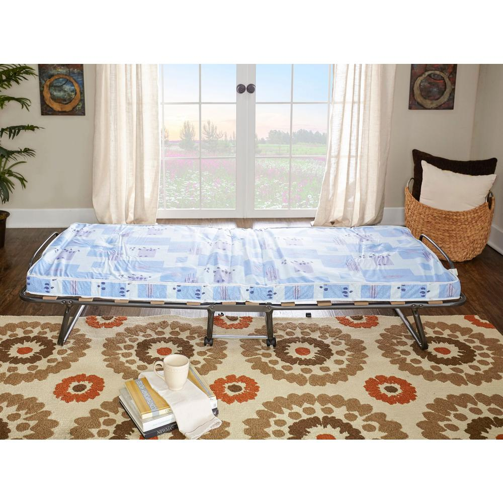 Foldable Mattresses Linon Home Decor Roma Folding Bed With Twin Medium Mattress
