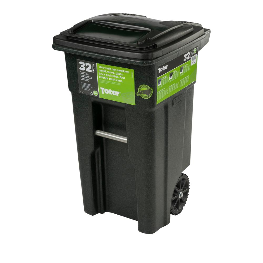 Mini Plastic Trash Can With Lid 32 Gal Greenstone Trash Can With Wheels And Attached Lid