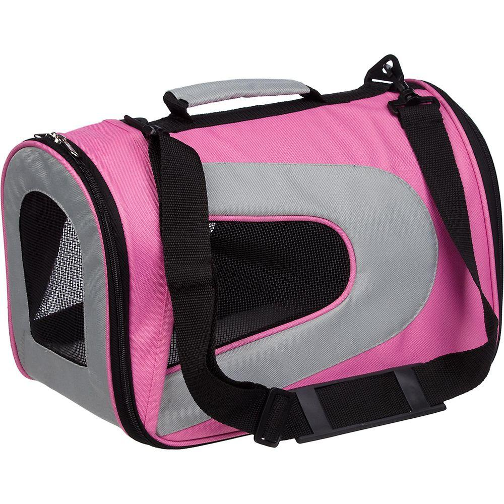 Pet Carrier Rental Pet Life Airline Approved Pink Sporty Folding Zippered