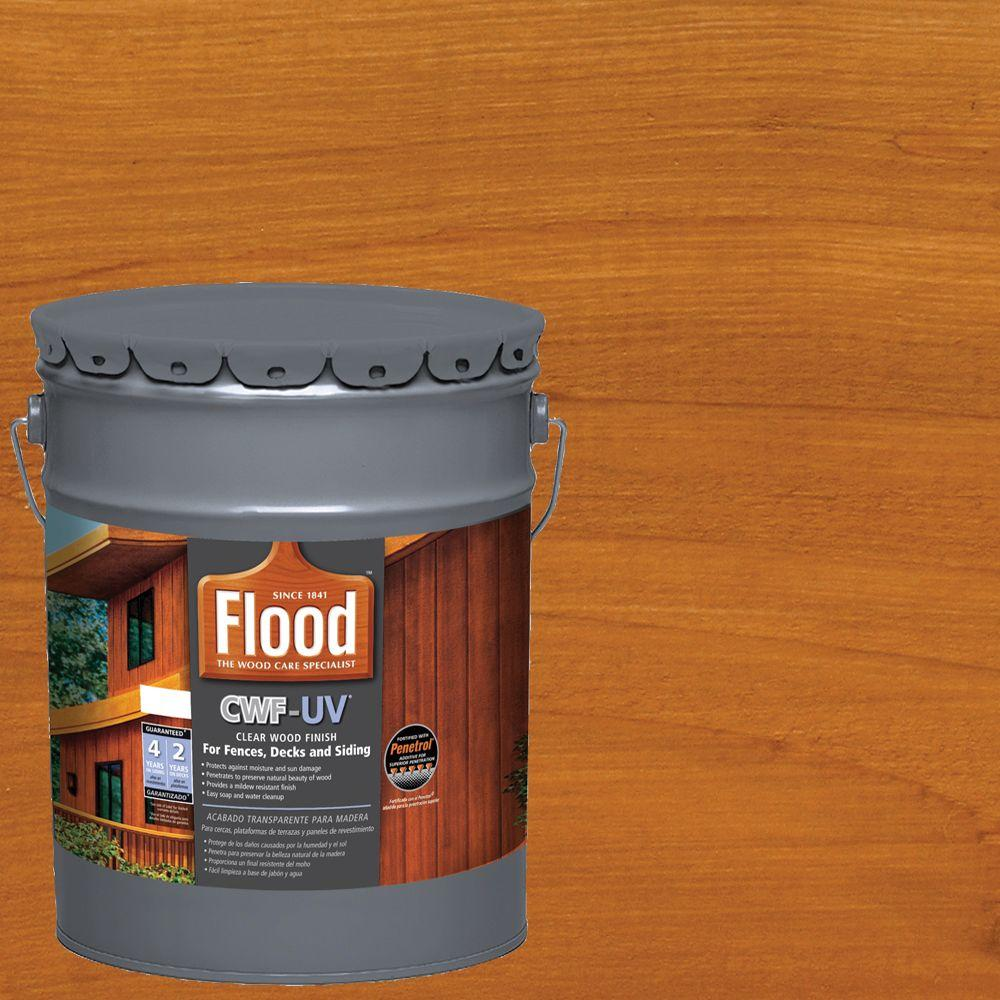 Home Depot Cedar Deck Boards Flood 5 Gal Cedar Tone Cwf Uv Oil Based Exterior Wood Finish