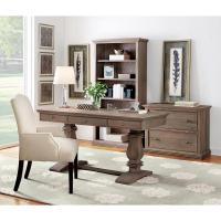 Home Decorators Collection Aldridge Antique Grey Desk with ...