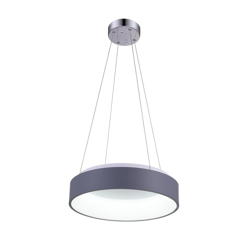 Led Chandelier Cwi Lighting Arenal 25 Watt Gray Integrated Led Chandelier