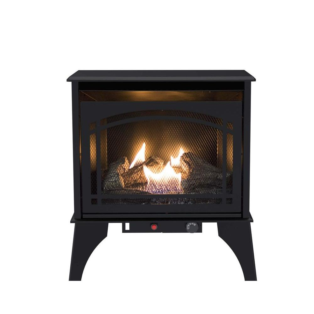 How Does A Vent Free Gas Fireplace Work Pleasant Hearth 23 5 In Compact 20 000 Btu Vent Free Dual Fuel Gas Stove