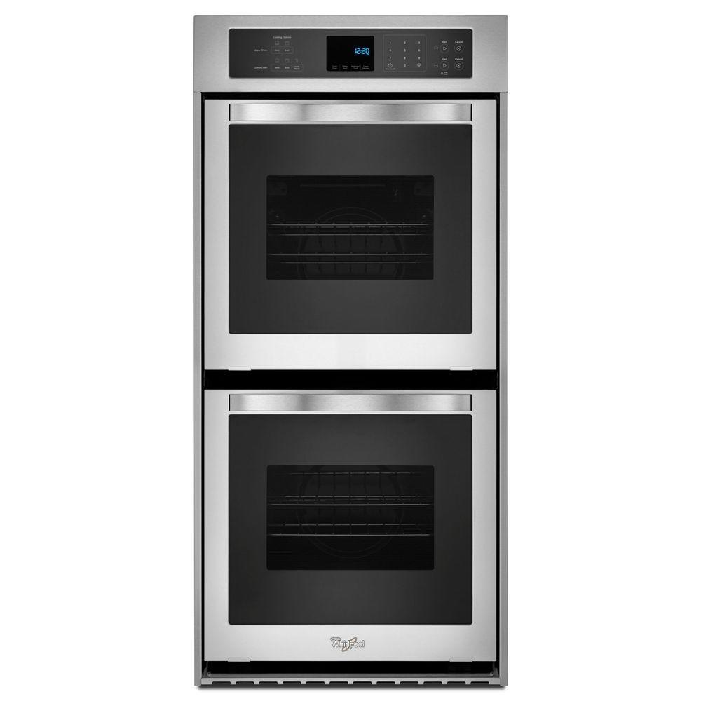 Electric Ovens For Sale Whirlpool 24 In Double Electric Wall Oven Self Cleaning In Stainless Steel