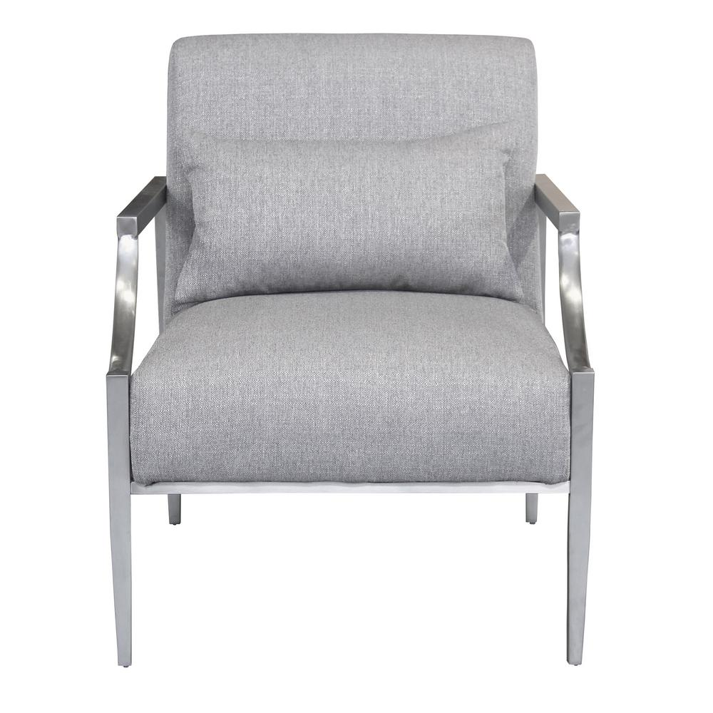 Beautiful Accent Chairs Essence Contemporary Grey Fabric Upholstered Accent Chair