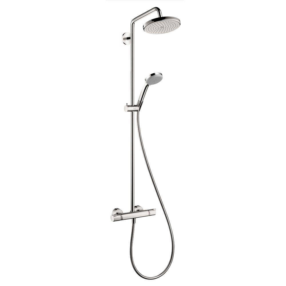 Hans Grohe Hansgrohe Croma 220 Shower Pipe In Chrome