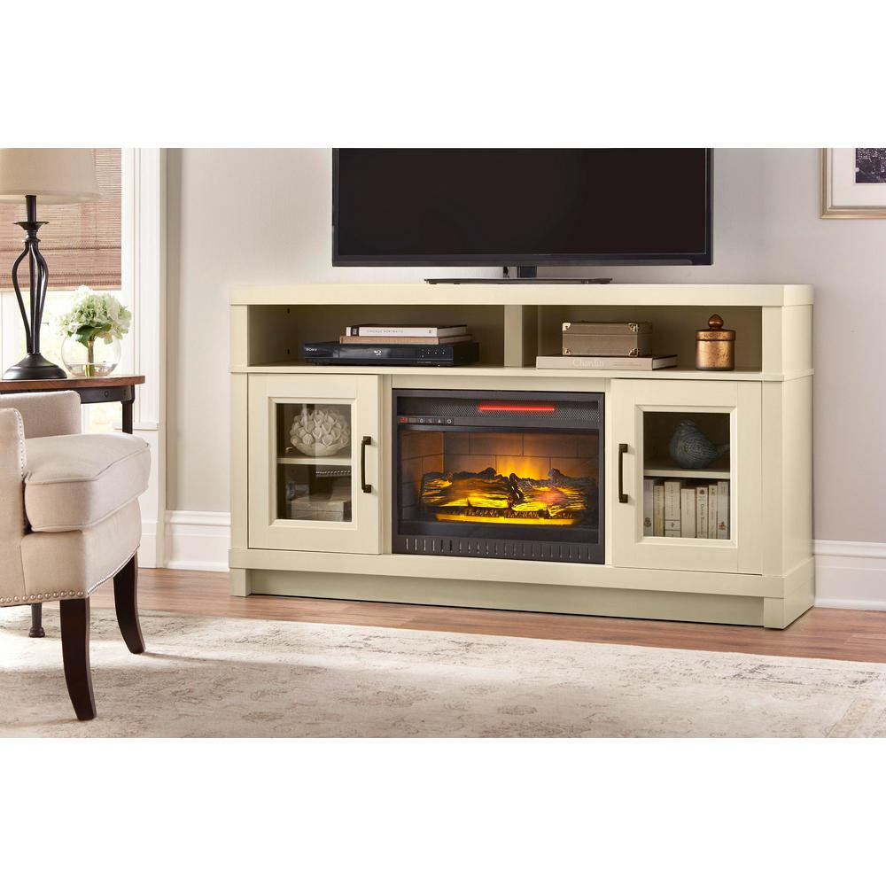 Living Room Electric Fireplace Home Decorators Collection Ashmont 60 In Freestanding Electric Fireplace Tv Stand In Antique White