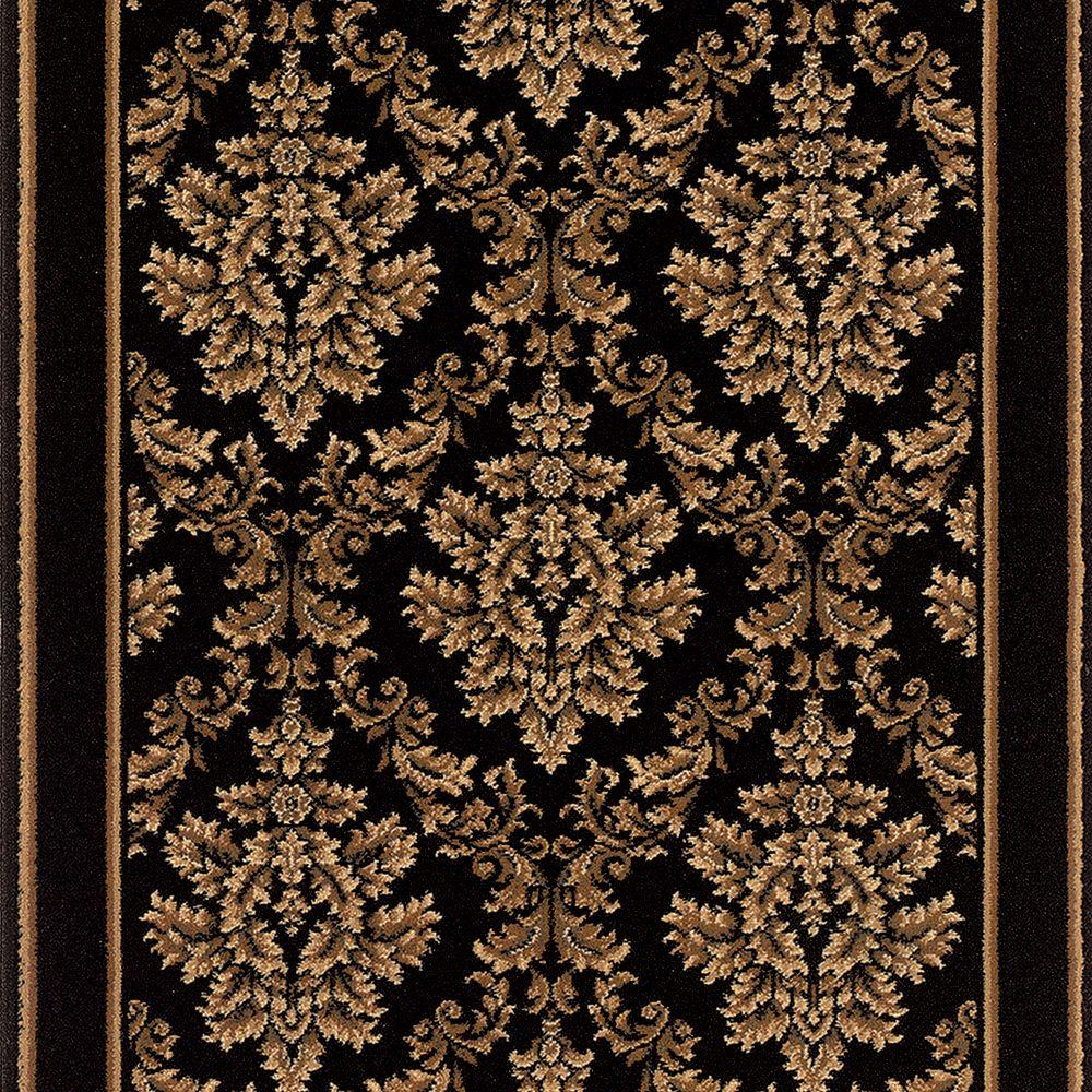 Stairs Rug Runners Natco Kurdamir Damask Black 26 In X Your Choice Length Stair Runner
