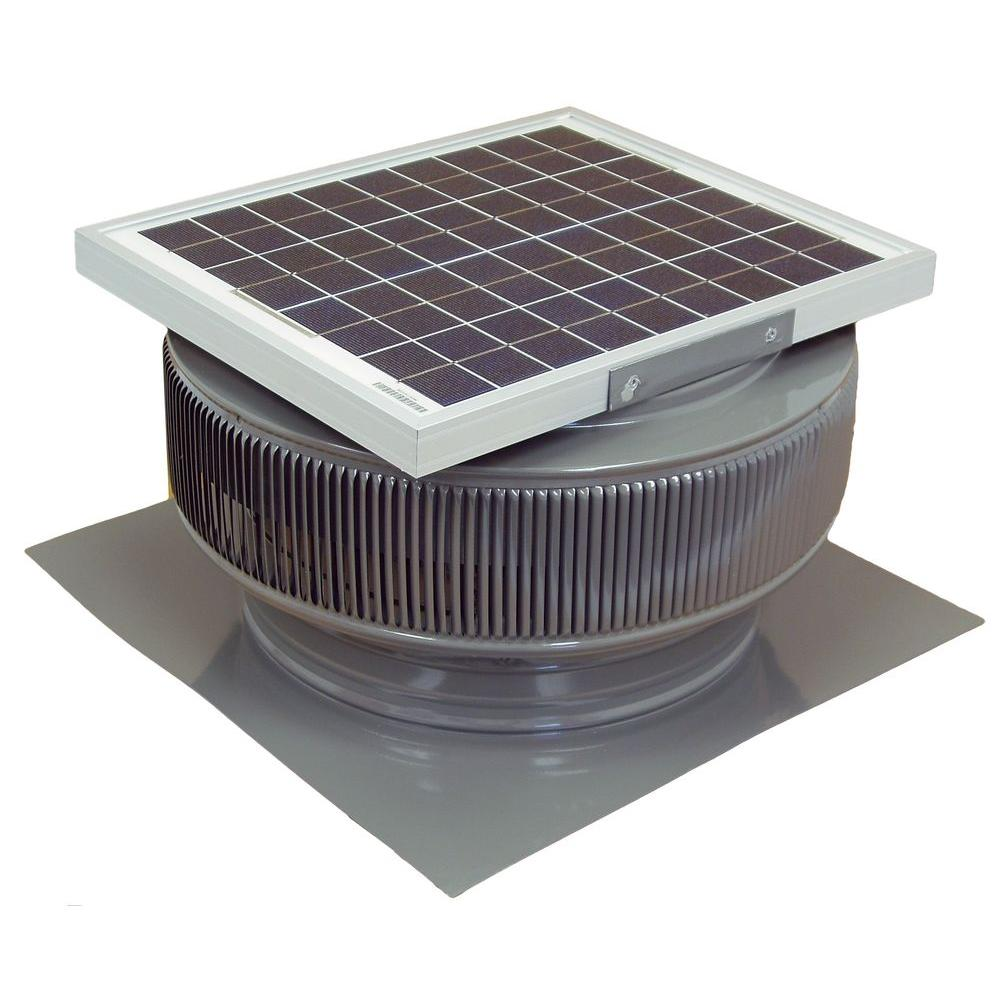 Exhaust Fan Roof Vent Active Ventilation 1007 Cfm Mill Finish 15 Watt Solar Powered 14 In Dia Roof Mounted Attic Exhaust Fan