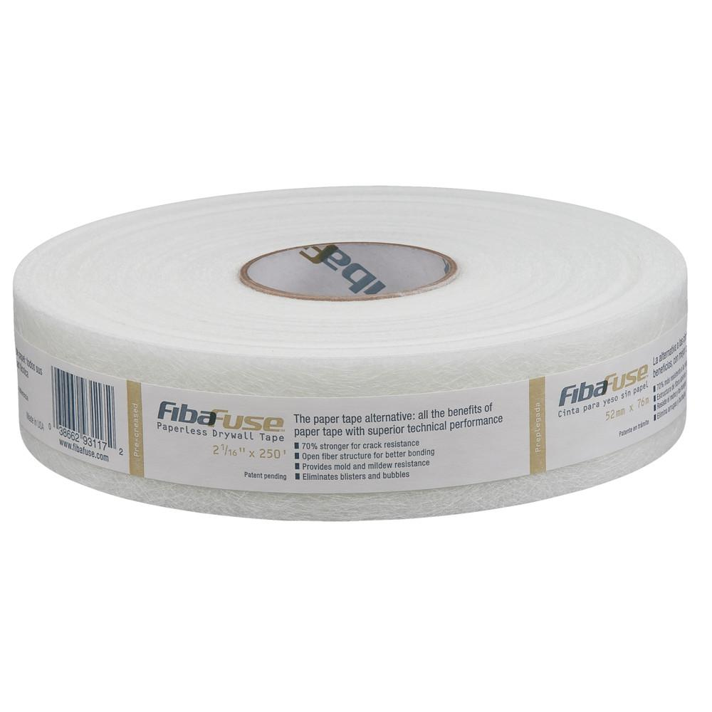 Drywall Paper Tape Saint Gobain Adfors Fibafuse 2 1 16 In In X 250 Ft White Paperless Drywall Joint Tape