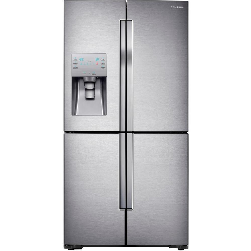 Home Depot Fridges Canada Samsung 22 5 Cu Ft 4 Doorflex French Door Refrigerator In Stainless Steel Counter Depth