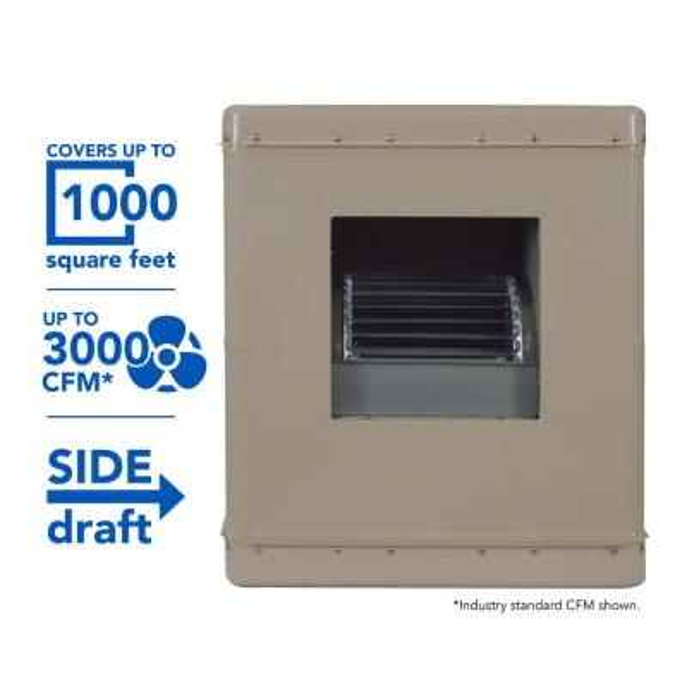 MasterCool 7000 CFM 230-Volt 2-Speed Down-Draft Roof 12 in Media