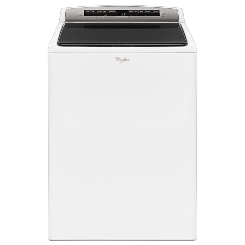 Whirlpool 4 8 Cu Ft High Efficiency White Top Load Washer With Built In Water Faucet Intuitive - Top Loading Washers