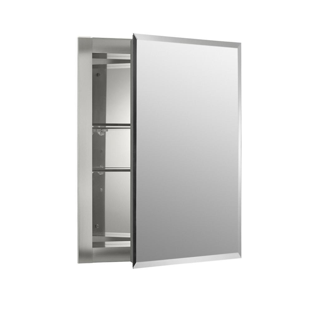 Recessed Bathroom Medicine Cabinet Storage Mirror Door