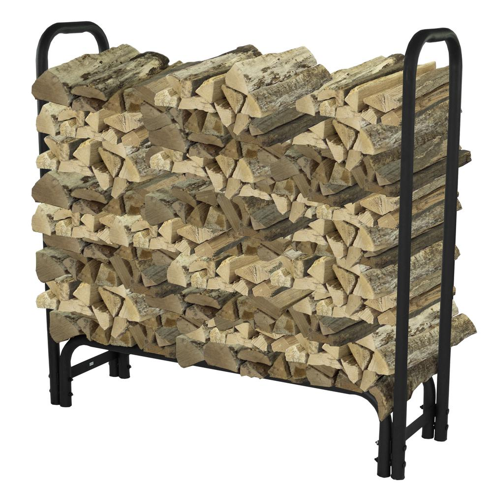 Outdoor Firewood Rack Pleasant Hearth 4 Ft Heavy Duty Firewood Rack