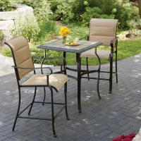 Hampton Bay Belleville 3-Piece Padded Sling Outdoor Bistro ...