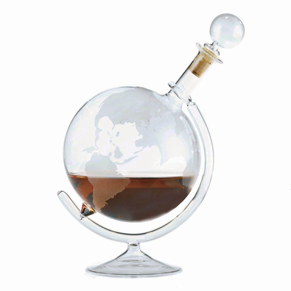 Decanter Wine Glas Wine Enthusiast 35 Oz Etched Globe Spirits Decanter