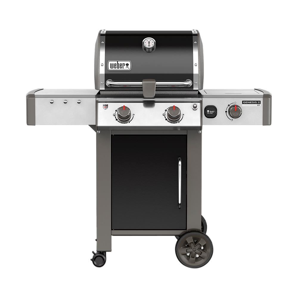 Bbq Weber Genesis Weber Genesis Ii Lx E 240 2 Burner Natural Gas Grill In Black With Built In Thermometer And Grill Light