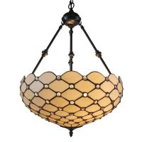 Amora Lighting 2-Light Tiffany Style and White Ceiling ...