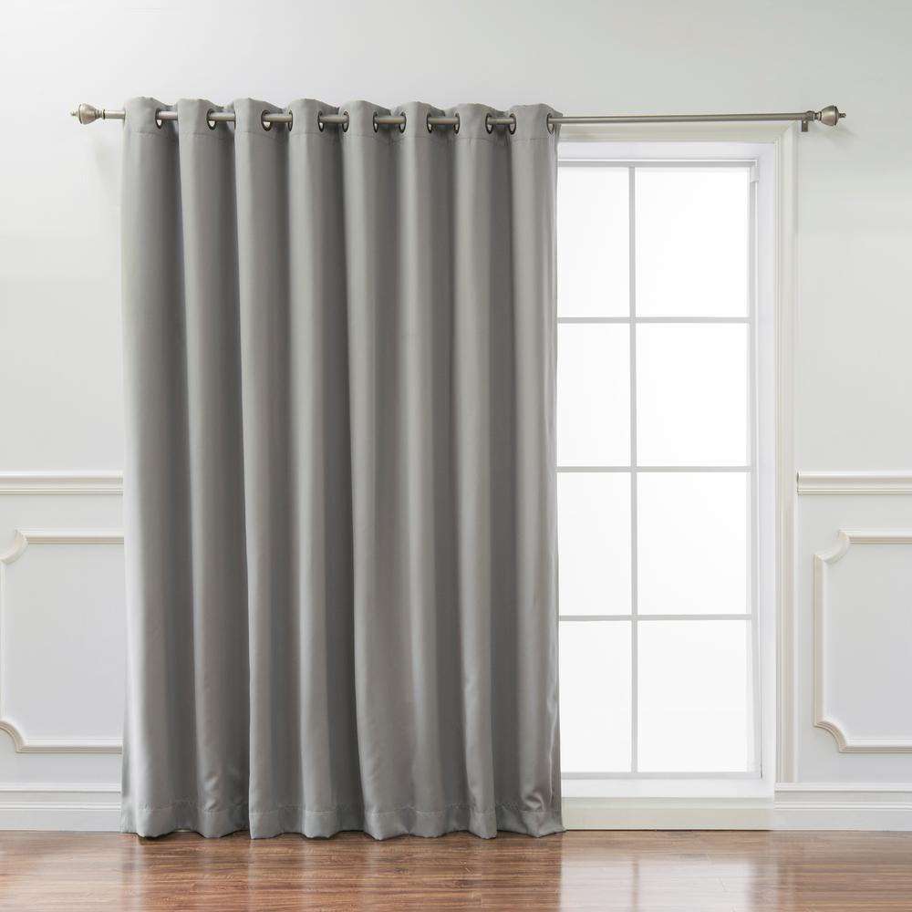 Cheap Stylish Curtains Best Home Fashion Wide Basic 100 In W X 96 In L Blackout Curtain In Dove