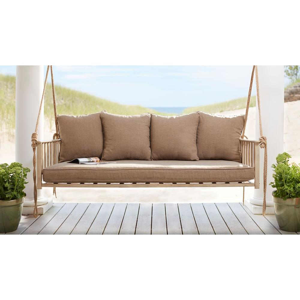 Big Sofa Back Cushions Hampton Bay Cane Patio Swing With Square Back Cushions