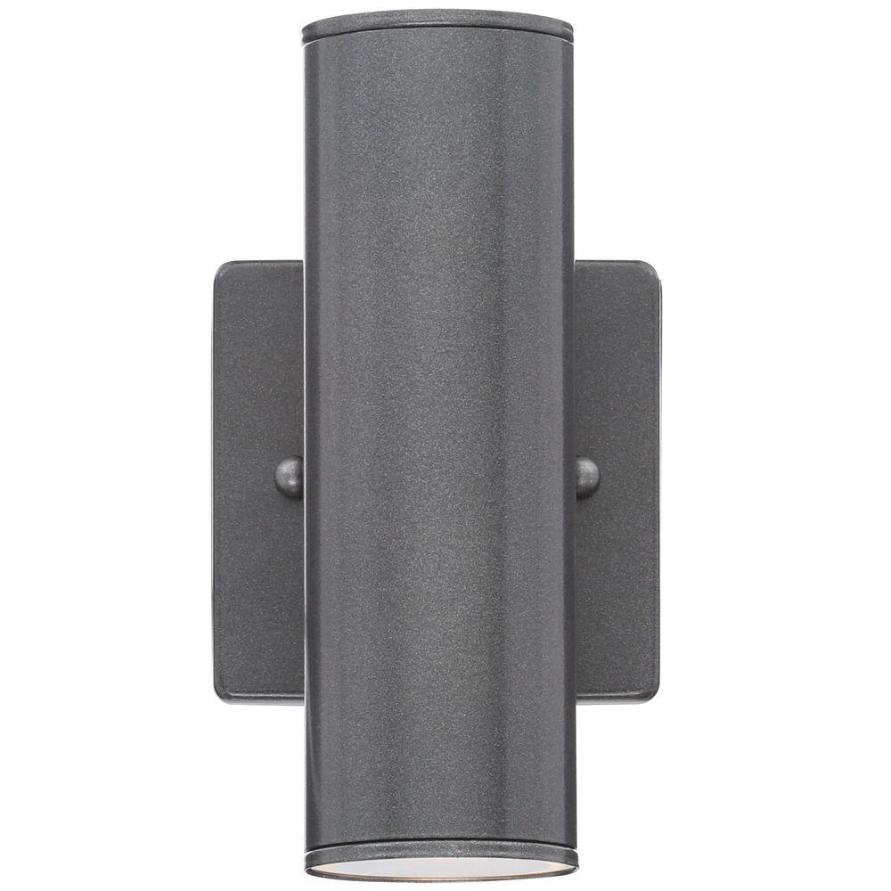 Eglo Riga Led Outdoor Wall Light Eglo Riga 2 Light Anthracite Outdoor Cylinder Wall Lantern Sconce