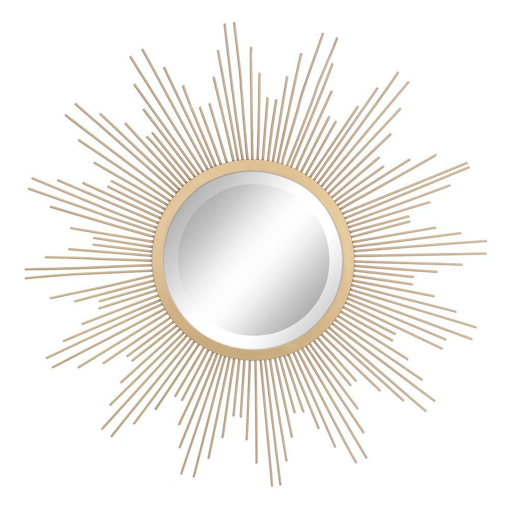 Decorative Mirror Stonebriar Collection Wire Sunburst Antique Gold Decorative Mirror