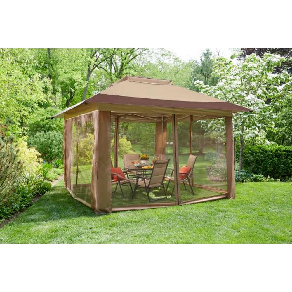 Pop Up Sun Shelter Canada Hampton Bay Stockton 12 Ft X 12 Ft Pop Up Gazebo Instant Canopy