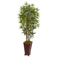 Nearly Natural Indoor Bamboo Artificial Tree in Decorative ...