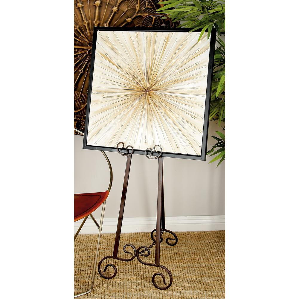 Easels 15 In X 51 In Bronze Adjustable Easel With Flourish Design Details