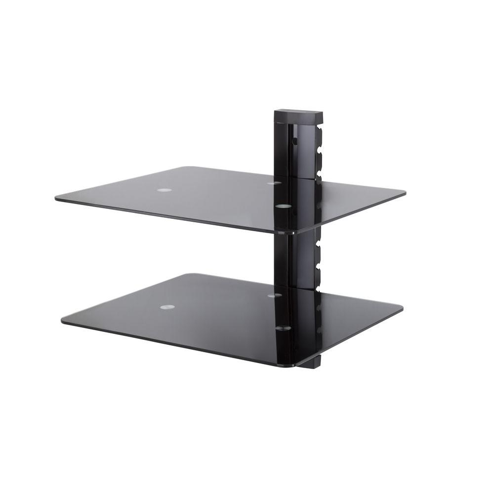Small Tv Wall Shelf Tv Wall Mount With 2 Shelves 8 2 Hus Noorderpad De