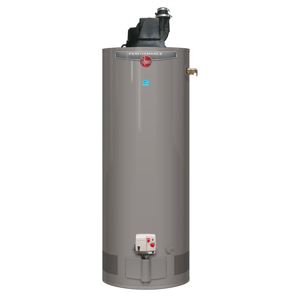 Rheem Power Vent Rheem Performance 50 Gal Tall 6 Year 42 000 Btu Natural Gas Power Vent Tank Water Heater
