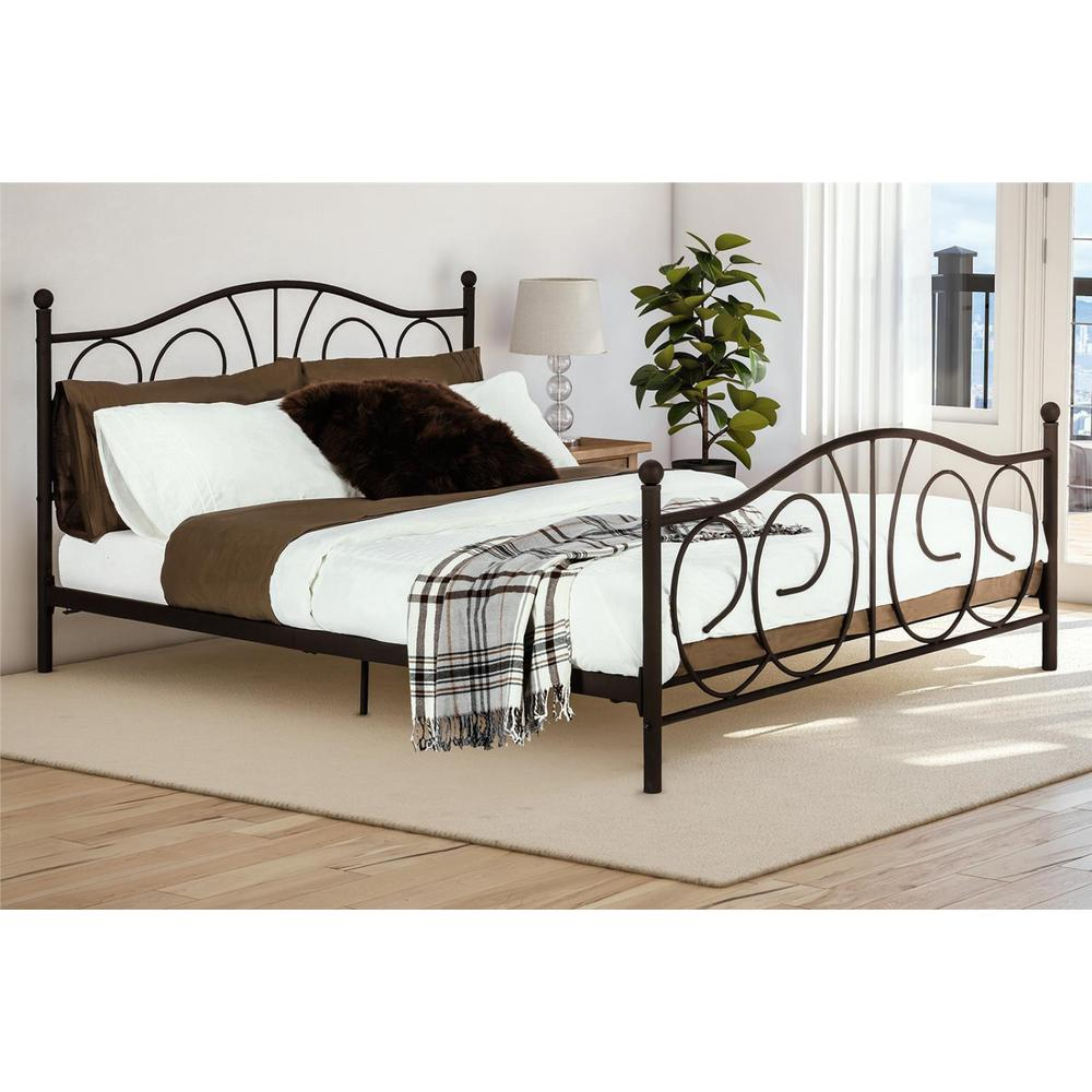 Queen Bed Frame Vanya Bronze Queen Bed Frame