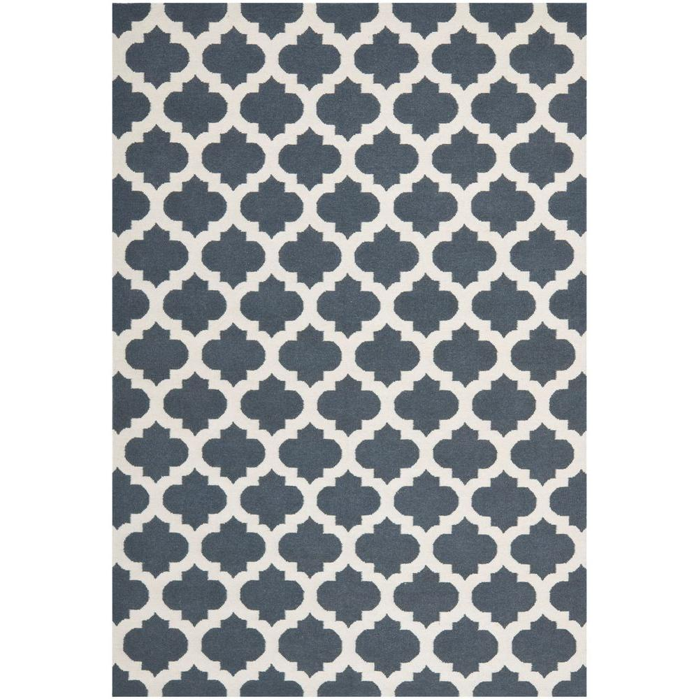 Backing Tapijt Safavieh Dhurries Blue Ivory 9 Ft X 12 Ft Area Rug