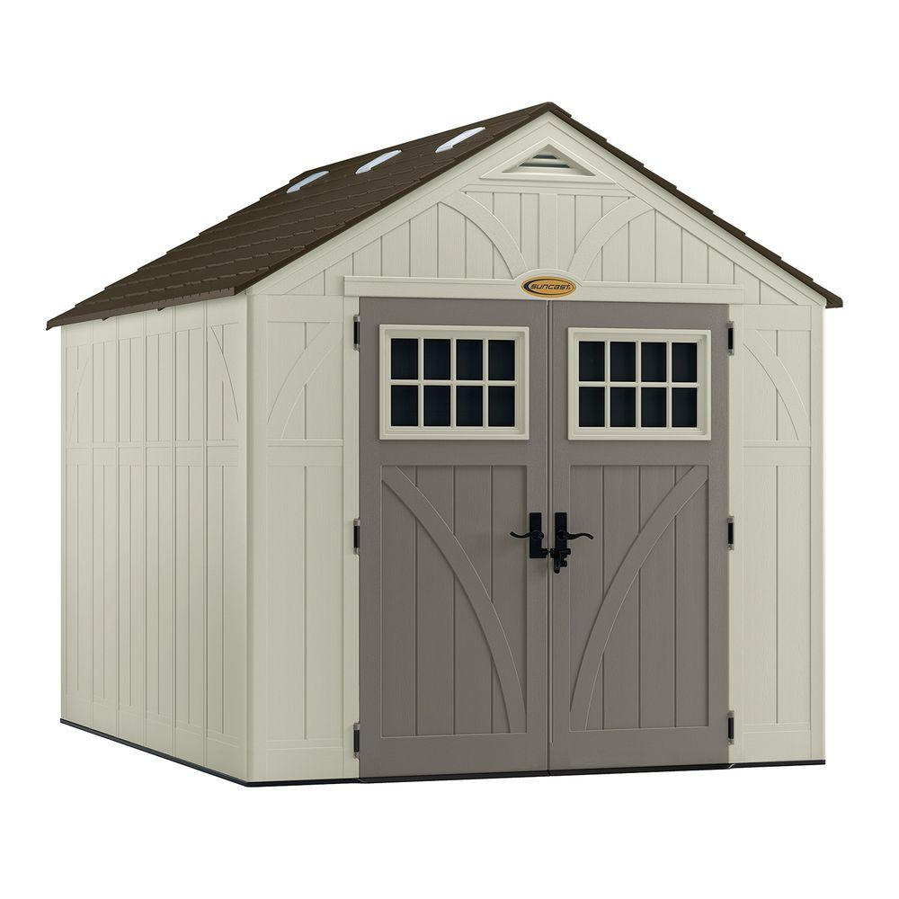 Home Depot Sheds For Sale Suncast Tremont 8 Ft 4 1 2 In X 10 Ft 2 1 4 In Resin Storage Shed