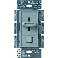 Lutron Skylark 600-Watt Single-Pole Preset Dimmer, Gray-S ...