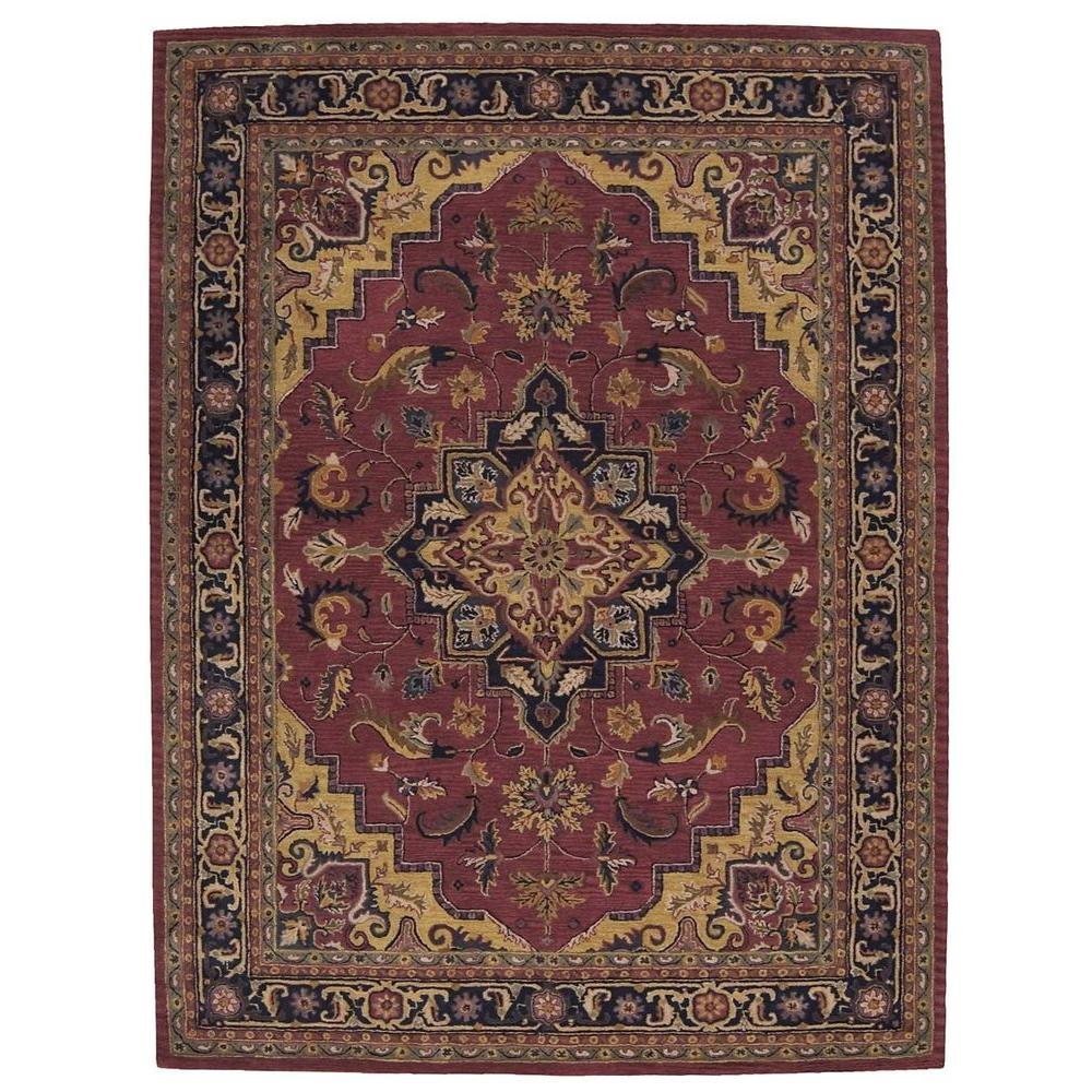 Nourison India House Rust 8 Ft X 10 Ft 6 In Area Rug