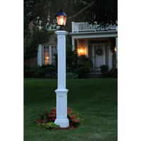 Mayne Signature Lamp Post WH with Mount-5835-W - The Home ...