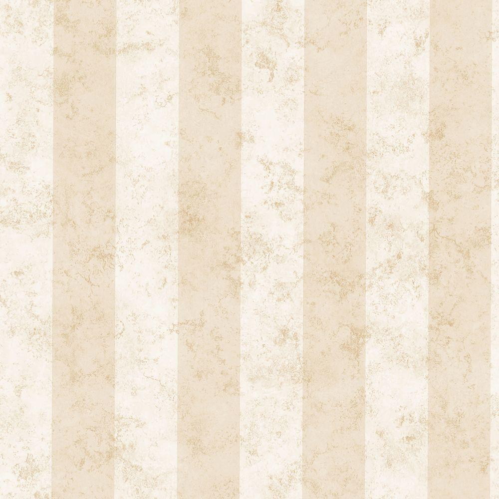 Rockland Textiles Rockland Cream Marble Stripe Wallpaper