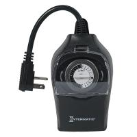 Intermatic 10 Amp 24-Hour Outdoor Plug-In Timer, Black ...